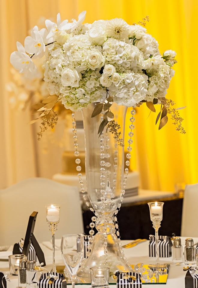 Black And White Glamorous Wedding With A Dash Of Gold Belle The