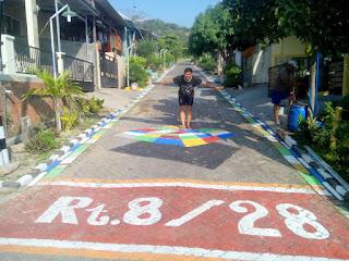 Kampung 3 dimensi lukisan