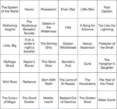 TBR Bingo | Two Hectobooks