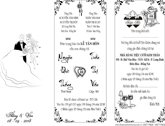 Vector thiệp cưới 2018