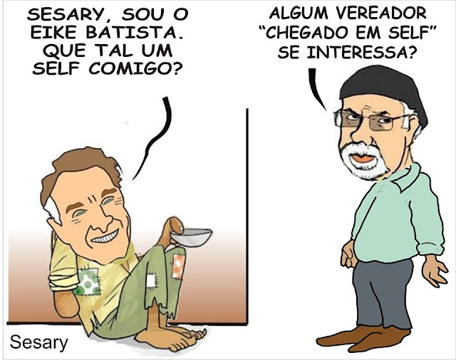 Charge do Eike Batista do Cartunista Sesary de Registro-SP