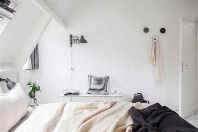 dormitorio decorado en blanco y negro chicanddeco