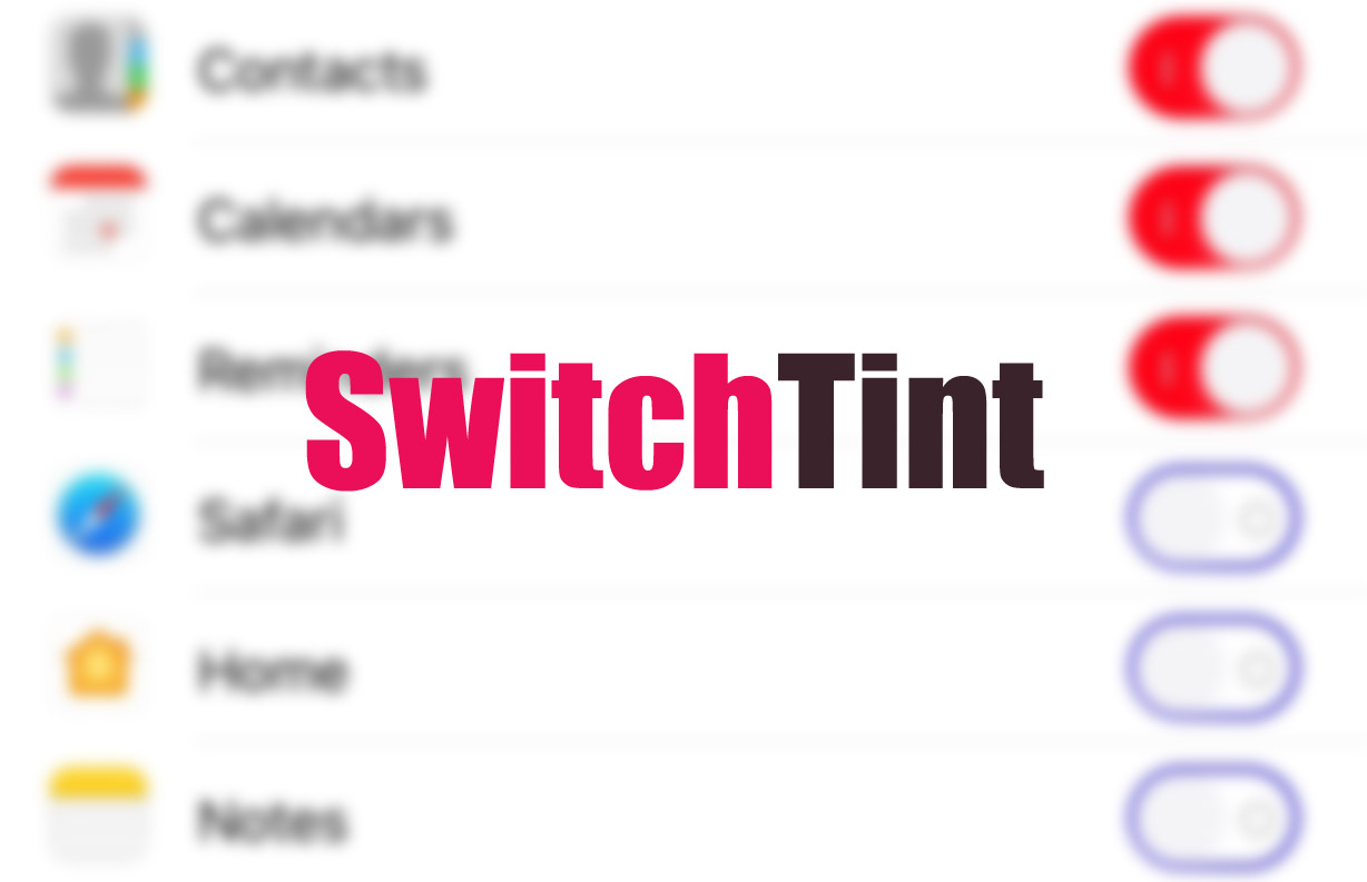SwitchTint is a new free jailbroken cydia tweak that lets you customize the color of your iPhone/iPad toggle switches in iOS 10 and 9.