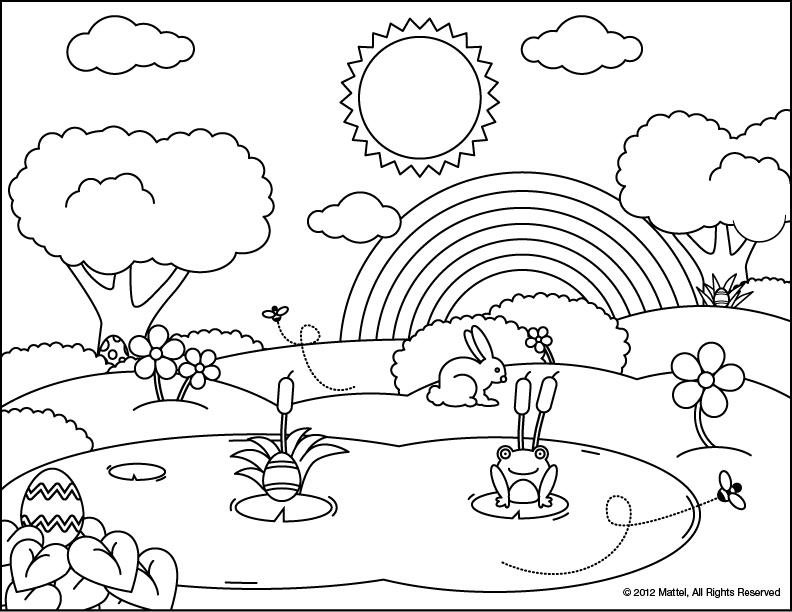 egg hunt coloring pages | Fisher-Price Store India: Easter Egg Hunt
