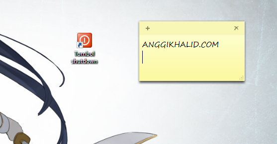 Membuat Tombol Shutdown Pada Komputer Menggunakan Shortcut