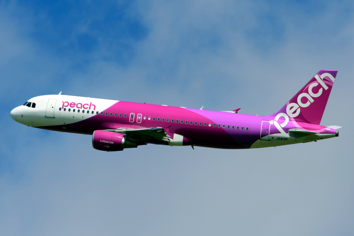 Peach Airbus A320-200 Pinky Pink