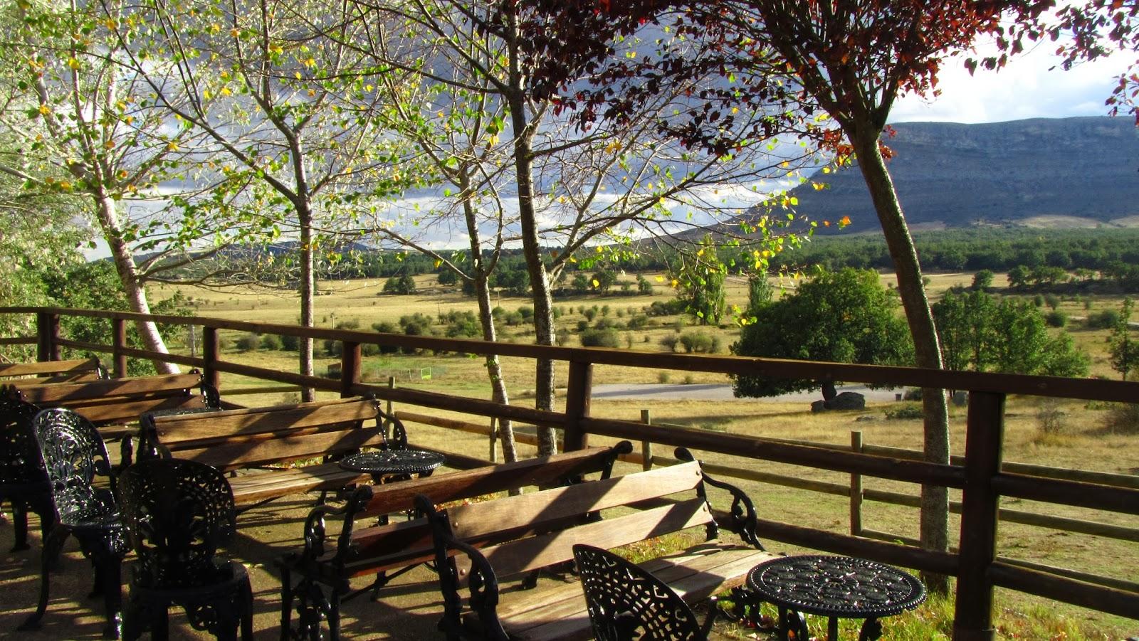 Terraza en restaurante Valonsadero, Soria
