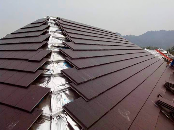 Kerja-Kerja Memasang Struktur Bumbung & Kemasan Rumah Banglo Kelantan