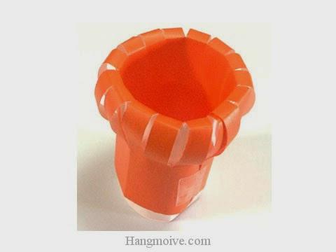 Cách gấp, xếp con sứa biển bằng giấy origami - Video hướng dẫn xếp hình - How to make a Sea anemone