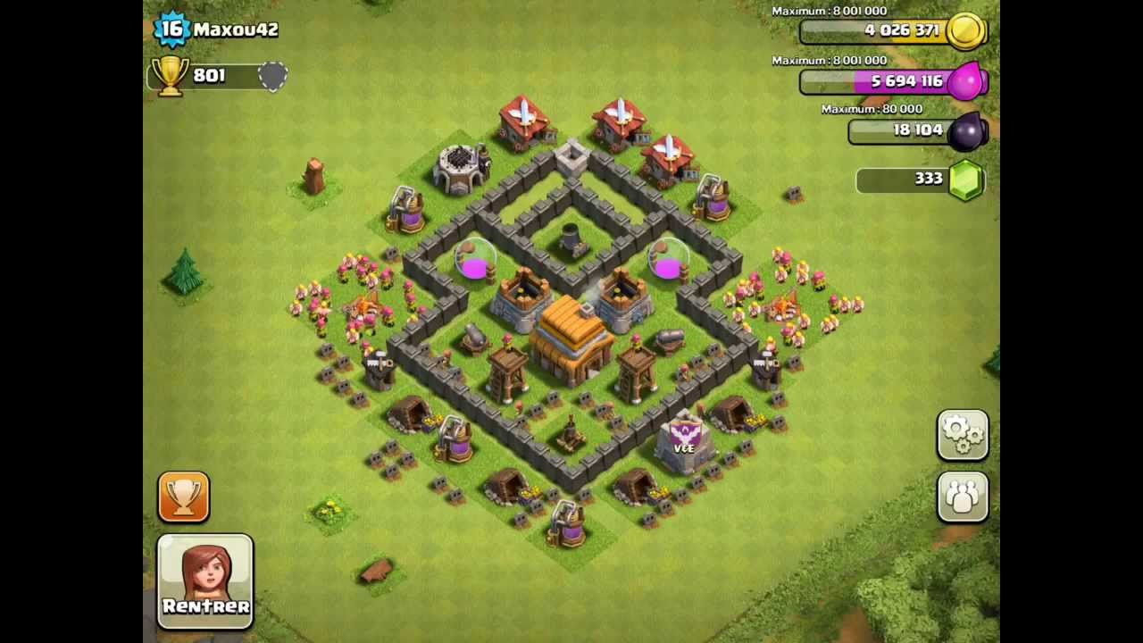 Strategi Clash Of Clans Town Hall Level 4