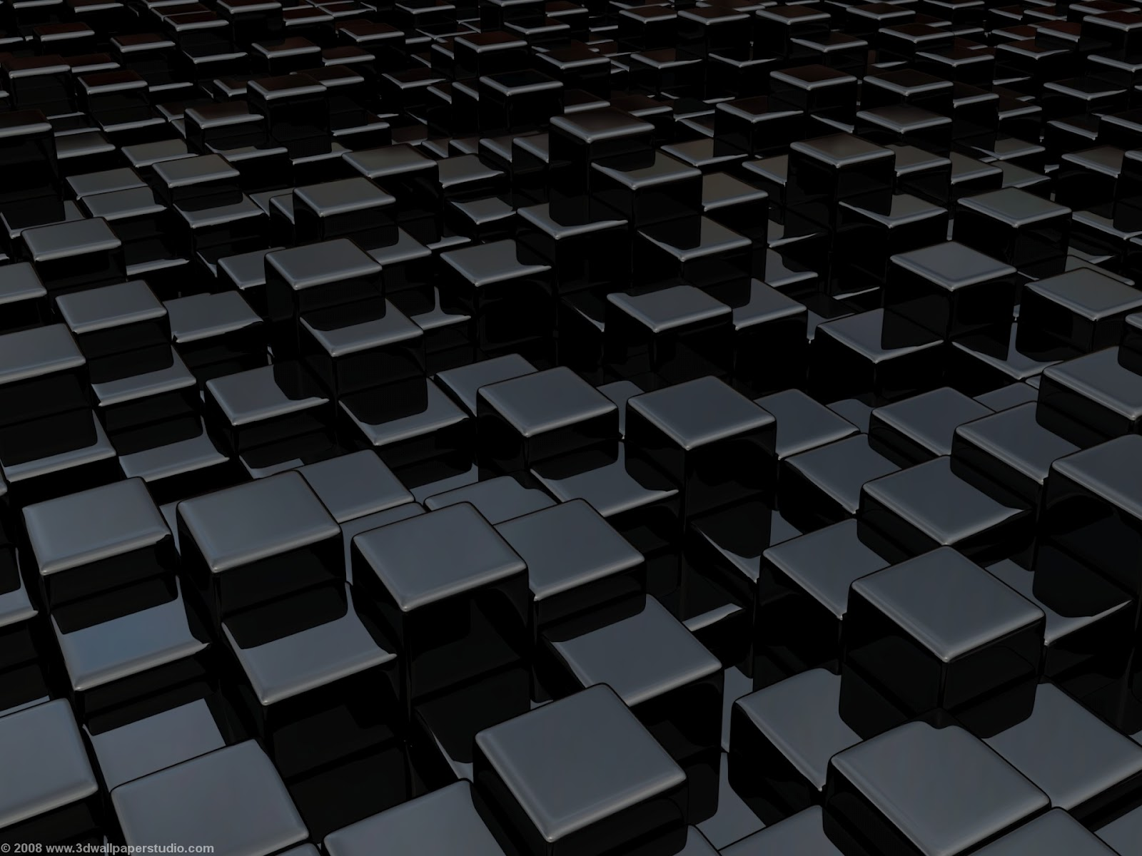 Black 3d Wallpapers: 3D Cube Wallpapers