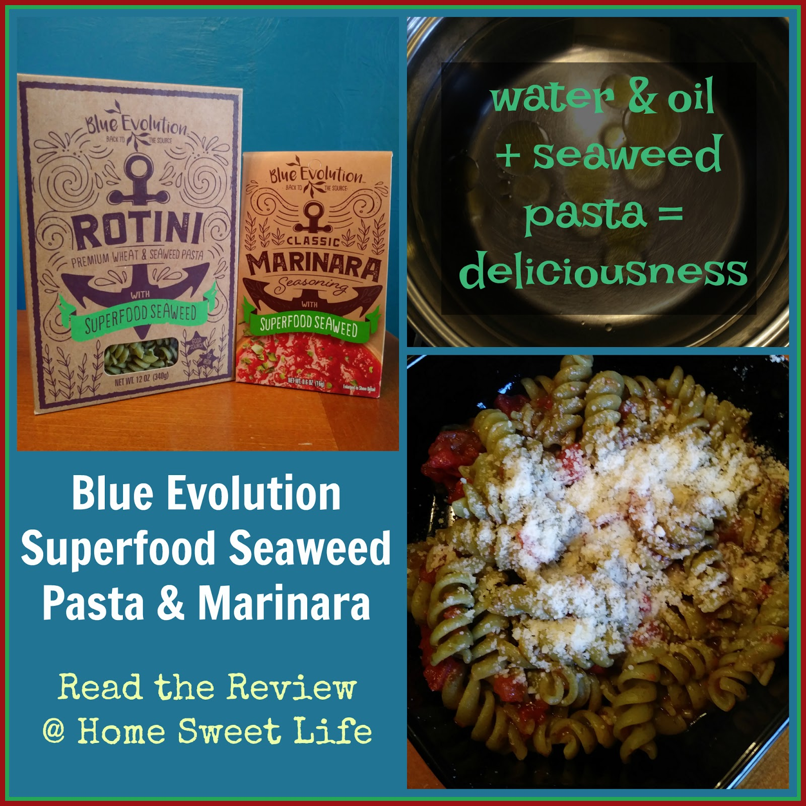 Home Sweet Life Blue Evolution Superfood Seaweed Pasta A Review