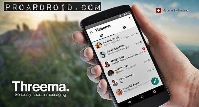تطبيق Threema لعمل محادثات مشفرة بشكل امن على الاندرويد logo