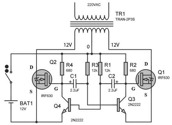 Rangkaian Inverter Dc To Ac Menggunakan Irf630 Syarif Projects