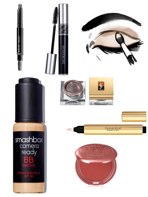 everyday luxury makeup products quick cosmetics smashbox dior ysl stila