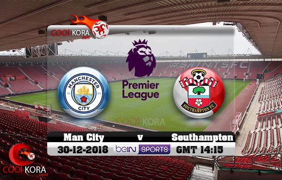 مشاهدة مباراة ساوثهامبتون ومانشستر سيتي اليوم 30-12-2018 في الدوري الإنجليزي