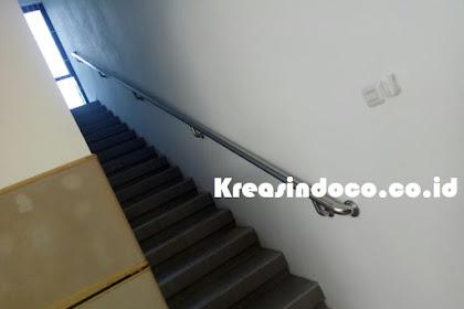 Handrail Tangga Stainless Pesanan Bu Emmy Jakarta Timur