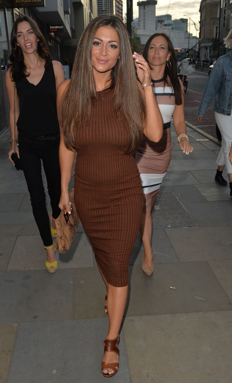 HQ Photos of Casey Batchelor arrives at Tapas Revolution in London