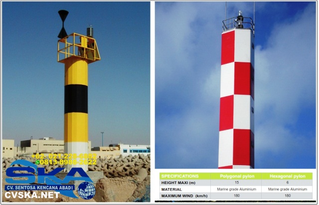 menara suar, jual menara suar, fixed beacon model 2