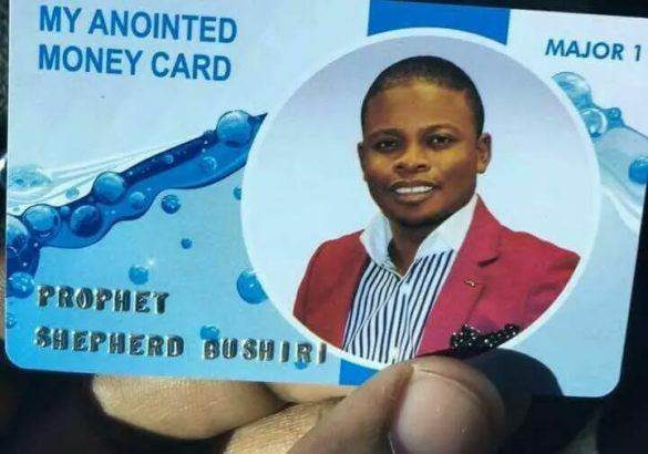 Malawian-pastor,-Shepherd-Bushiri-customised-ATM-card-for-church-members-to-use-in-paying-tithe