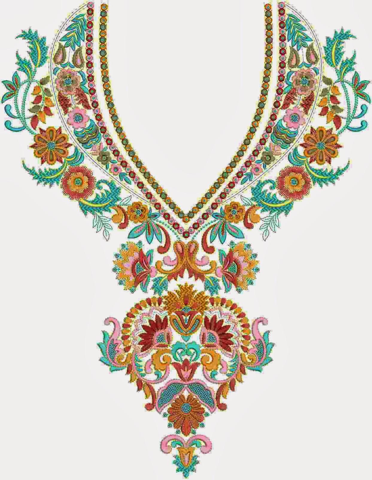 Simple Hand Embroidery Designs For Salwar Kameez