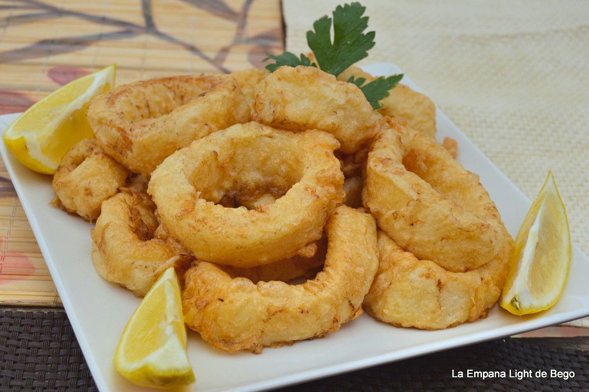 La empana light de bego calamares a la romana tiernos y for Cocinar calamares pequenos