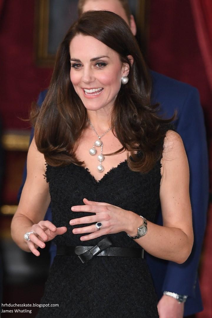 a289bbdedeb Duchess Kate  Kate s Paris Chic in McQueen Black Dress   Pearls