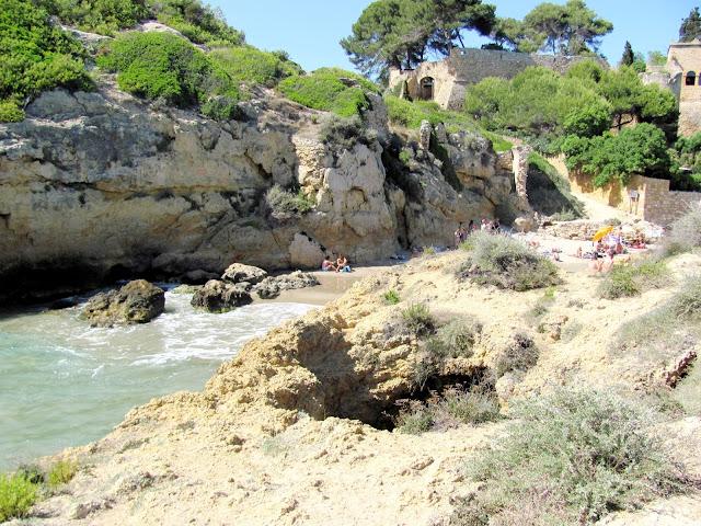 Secret beach near to Tamarit Castle close to Tarragona