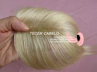 Tecer cabelo - Franja ou próteses de cabelo loiro