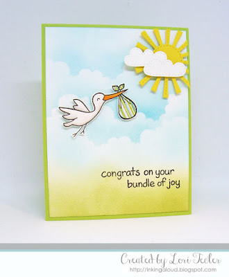 Bundle of Joy card-designed by Lori Tecler/Inking Aloud-stamps and dies from Lawn Fawn