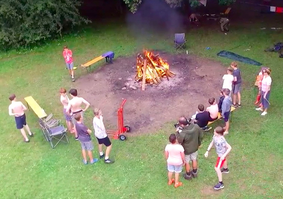 Campfire - one of the activities of the North Mymms Youth Project in 2017