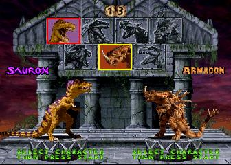Primal Rage+arcade+game+portable+select+players