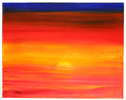 New Painting: The Sun In The Sea
