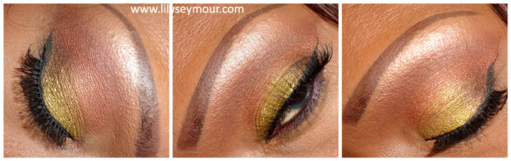 Liquid Gold Pigment from Makeup Geek (MUG)