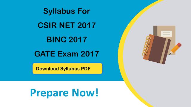 Syllabus BINC CSIR NET
