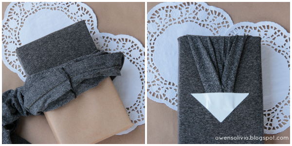 DIY legging gift wrap