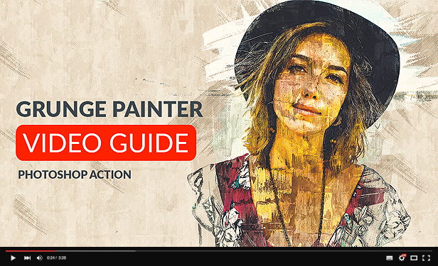 Grunge Painter Photoshop Action - 1