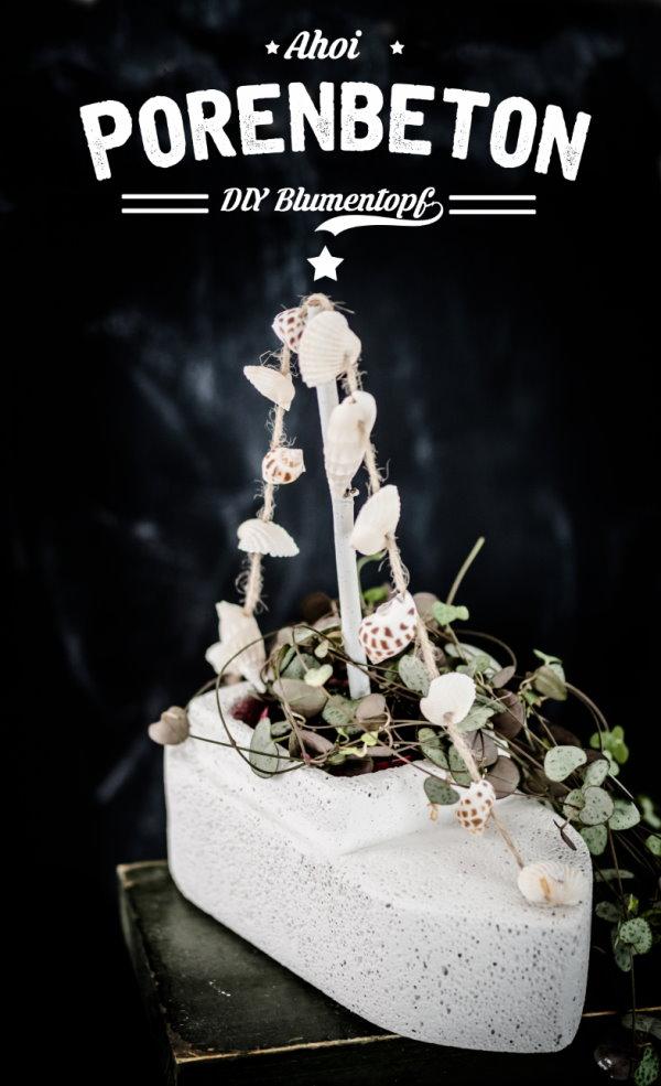 DIY Blumentopf aus Porenbeton