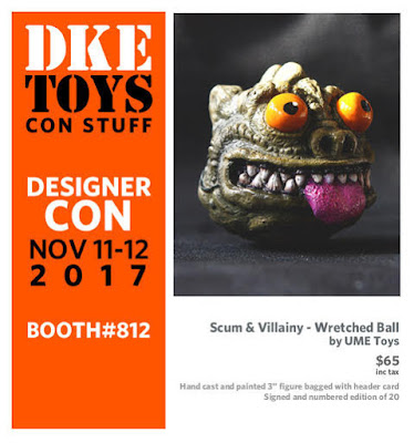 Designer Con 2017 Exclusive Star Wars Scum & Villainy Wretched Bossk Madball Resin Figure by UME Toys x DKE Toys