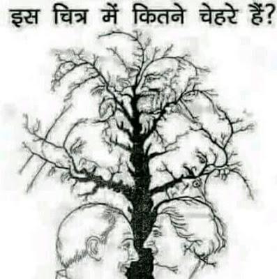 Aankh Ka Test: Is Chitra Me Kitne Chehre Hai