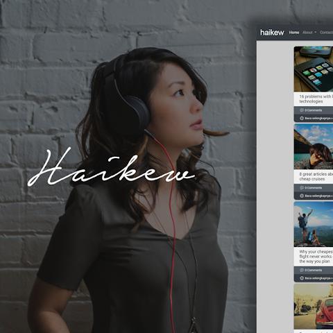 Haikew - Elegant Masonry Blogger Template