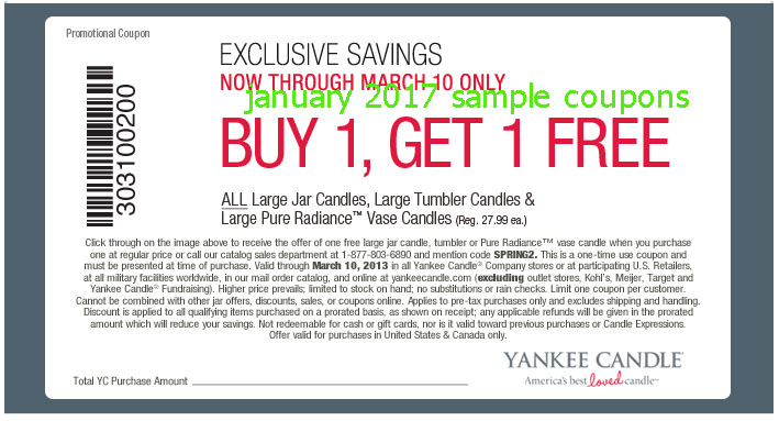 Printable Coupons 2017: Yankee Candle Coupons