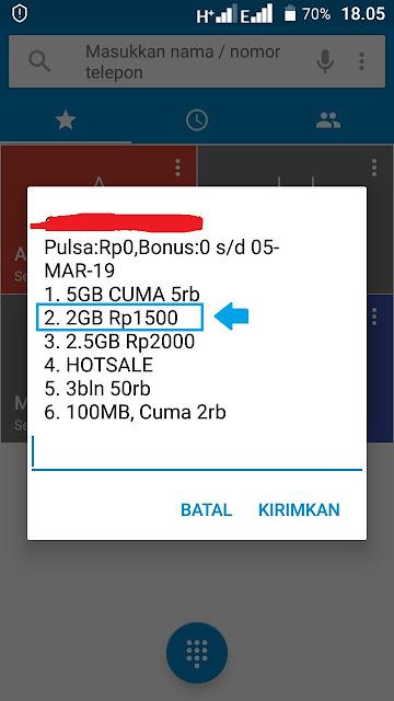 paket 3 2GB 1500 masih ada