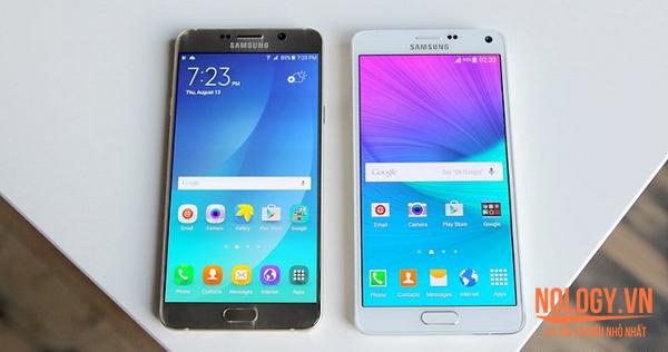 So sánh Samsung Note 5 cũ và Note 4 cũ