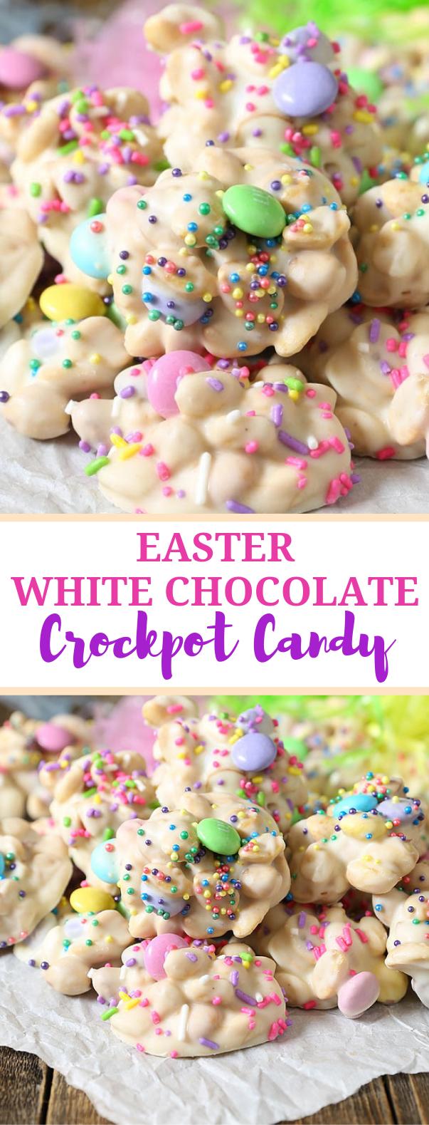 Easter Crockpot Candy #dessert #cluster
