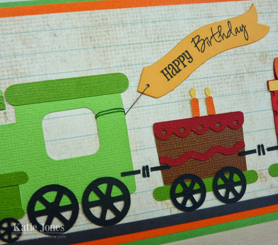 I Replaced One Of The Train Cars With A Birthday Cake Which Took From Lori Whitlock A2 Box Card Cut Then Used Some Sewing Machine Thread