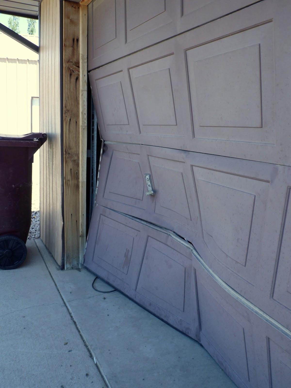 Brandon And Jennifer A Broken Garage Door