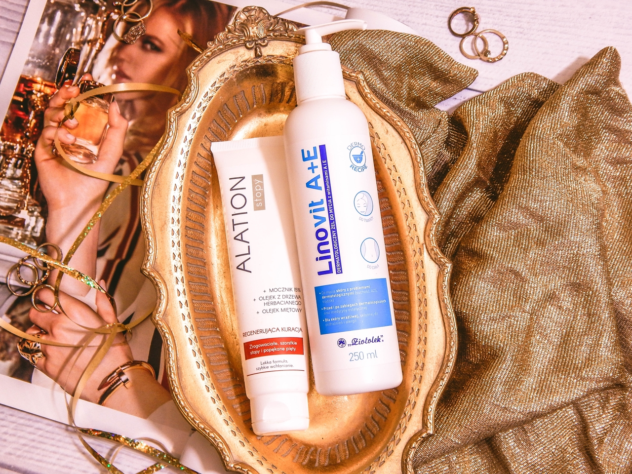 1 ziołolek Linovit a + e dermatologiczny żel do mycia z witaminami  recenzja opinia działanie alation stopy regenerująca kuracja szorstkie stopy popękane pięty jak dbać o stopy zimą produkty do skóry wrażliwej