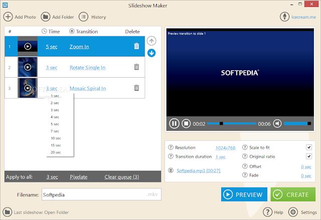 تحميل برنامج عرض الشرائح للكمبيوتر مجانا IceCream Slideshow Maker 1.47