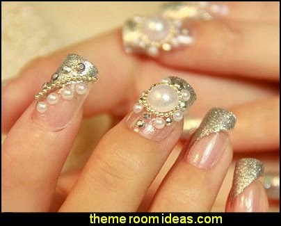 pearl Nail Art fake nails